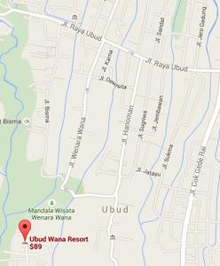 UbudWana Map