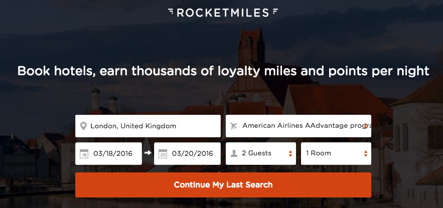 Rocketmiles Bookin